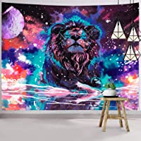 Hexagram Lion Tapestry Wall Tapestry Indian Bohemian Trippy Wall Art Small Hippie Tapestry Wall Hanging Psychedelic…