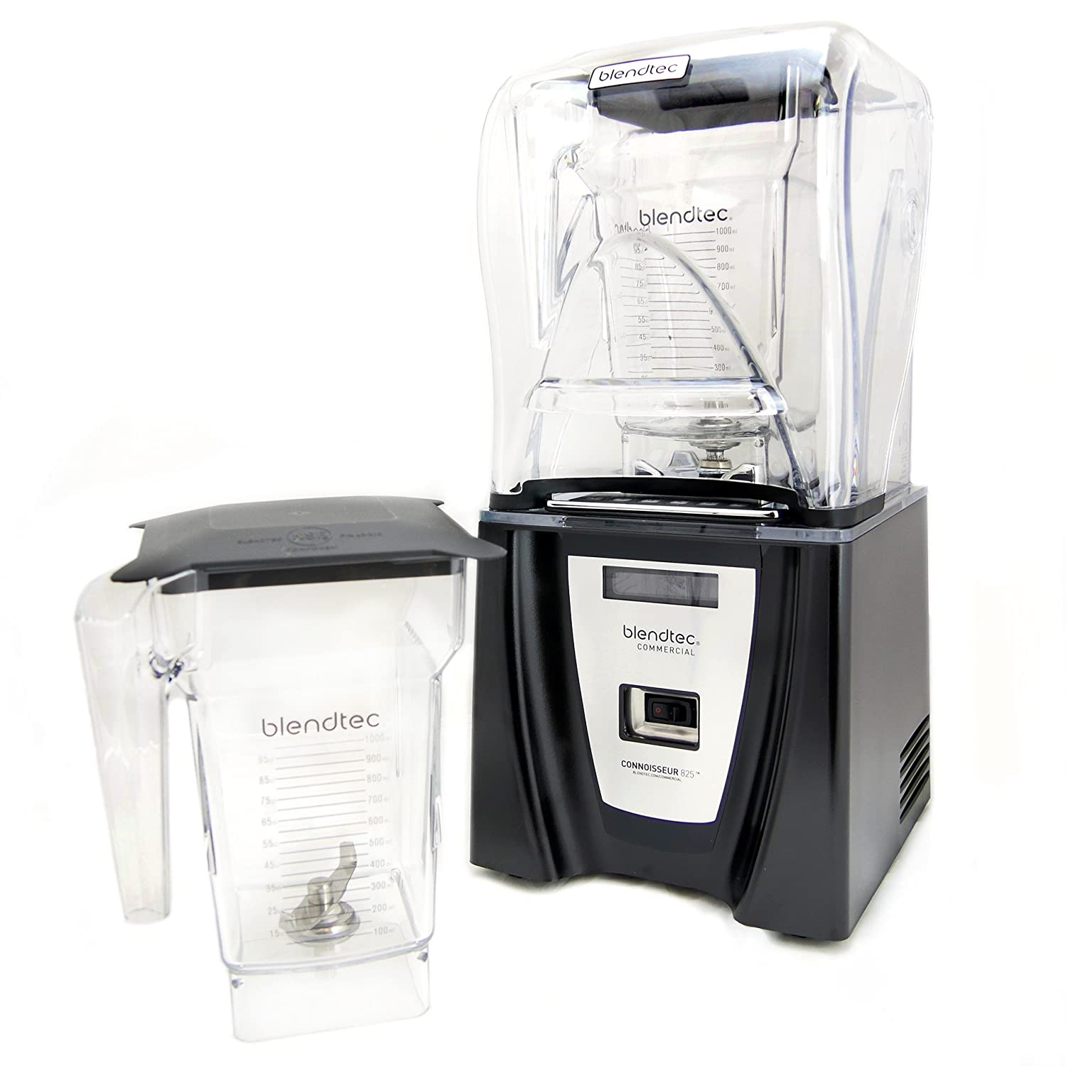 Blendtec Commercial CONNOISSEUR 825 Blender - With Two FourSide Jars & Soft Lids