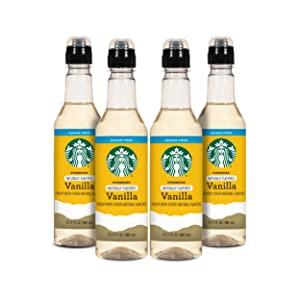 Starbucks Naturally Flavored Coffee Syrup, 12.1.7 Ounce, Pack of 4