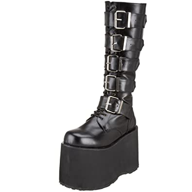Eu Leather Uk Mega Demonia 10 618 Taille Blk Vegan 43 L4Acj35qR