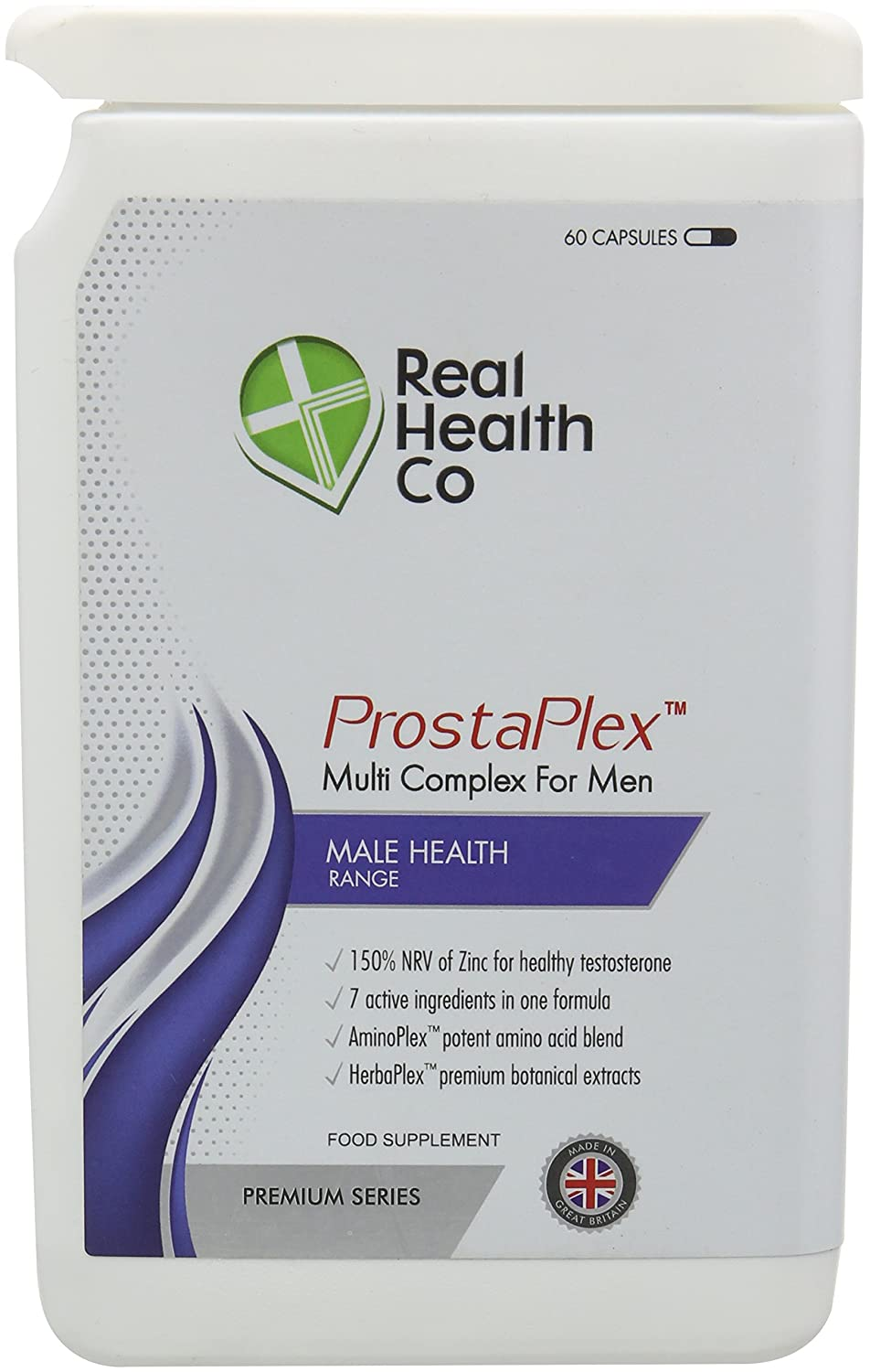 Real Health Co Prosta Plex Male Health Formula Capsules