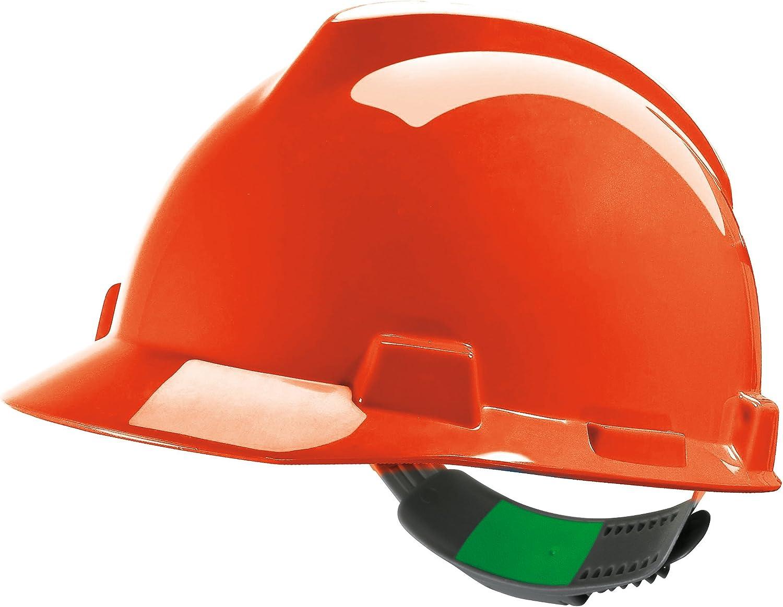 Casco de Protección MSA V-Gard (V-Gard, Naranja): Amazon.es: Bricolaje y herramientas