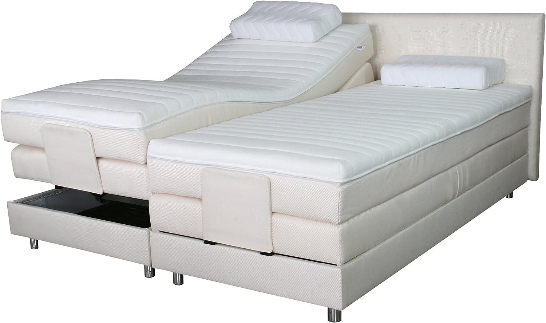 Cama con somier cama 2/12 tejidos a elegir./Tamaño 180 x 200 cm/eléctrico (regulable