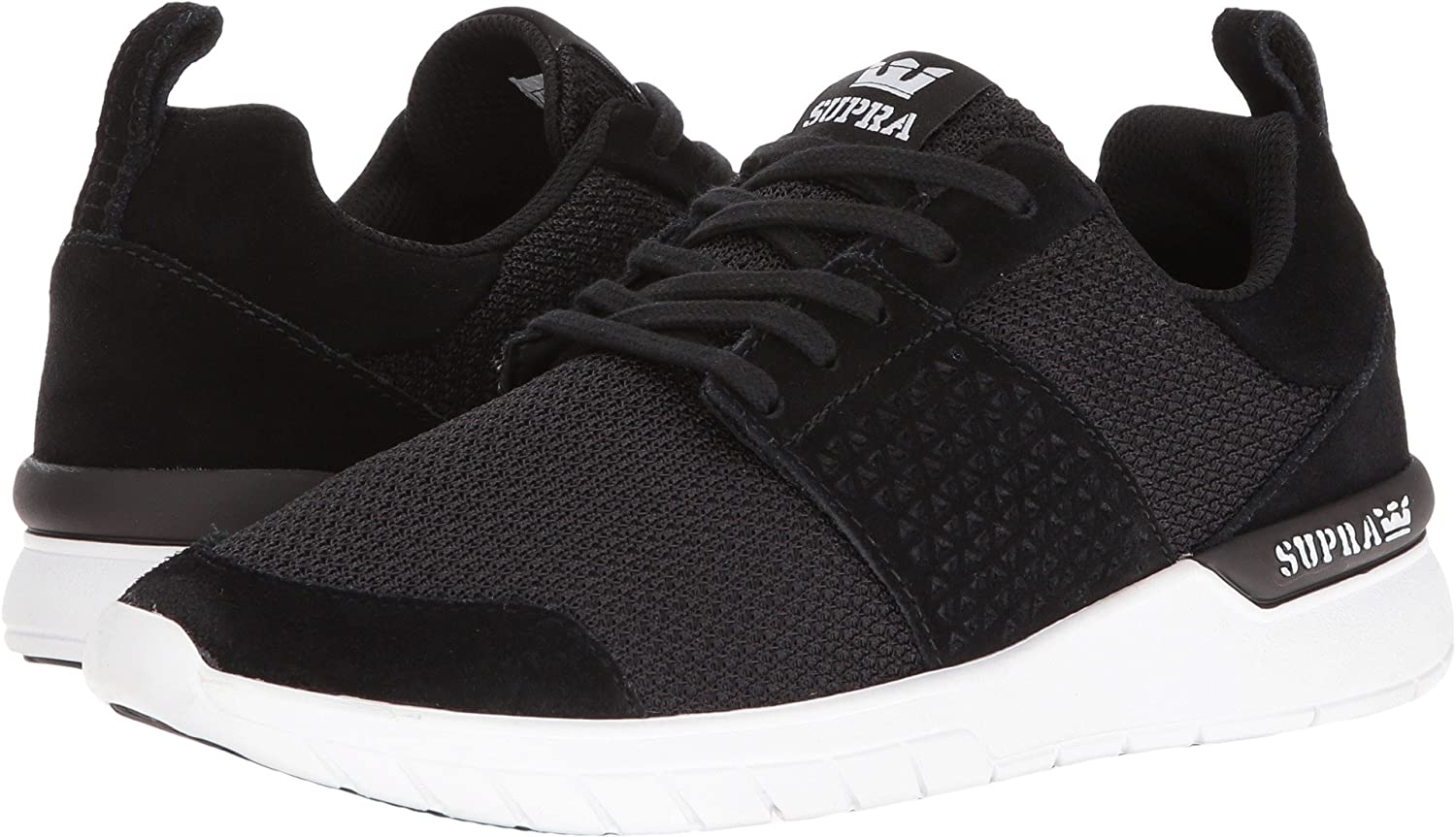 Supra Women's Scissor '18 Shoes B01EIIMUQ6 6 M US|Black Reflective White
