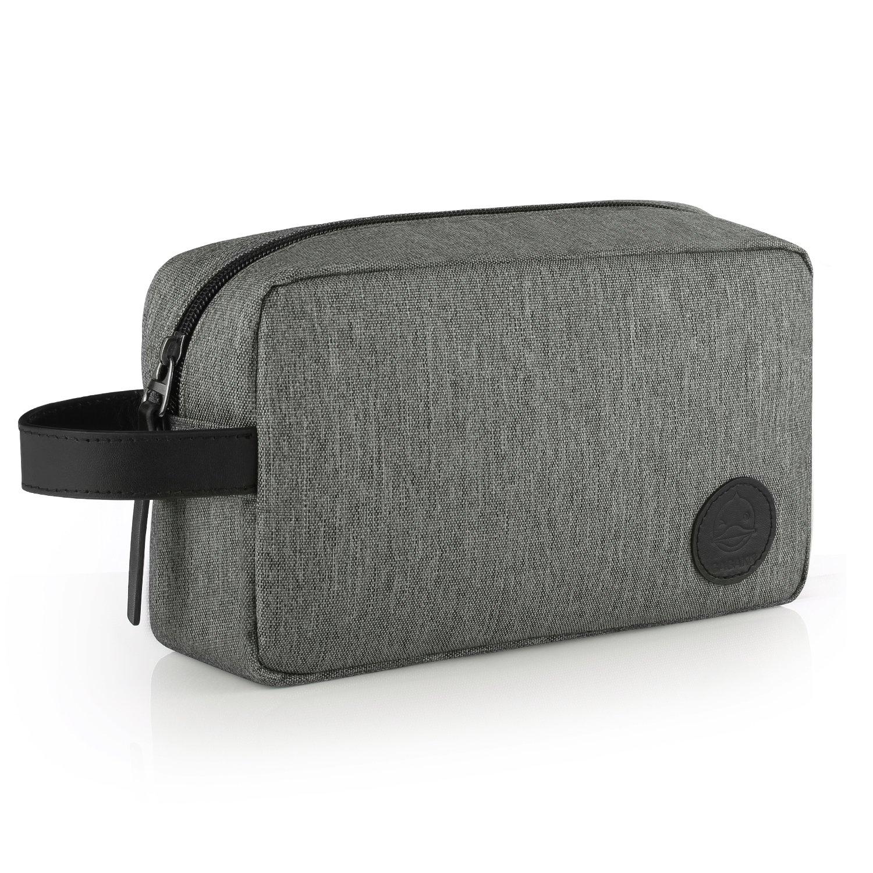 GAGAKU Homme Trousse de Toilette Imperméable Dopp Kit Multifonctions Trousses à Maquillage de Voyage - Gris Brandworl