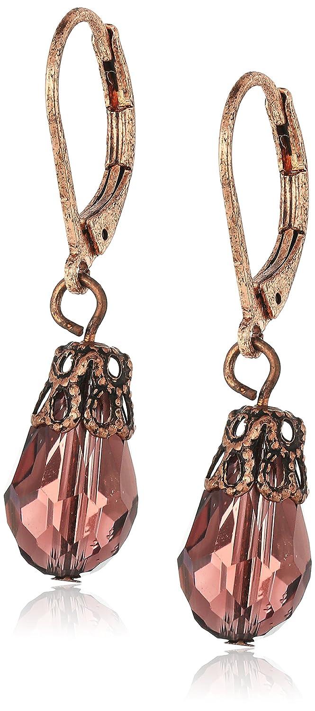 1928 Jewelry Copper-Tone Drop Earrings 82043