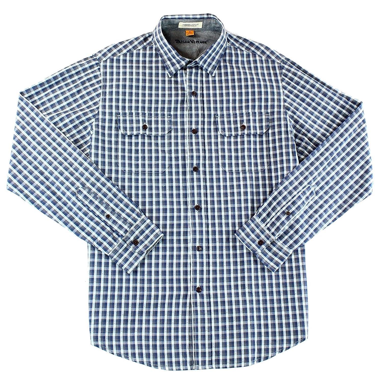 Tailor Vintage Indigo Men's Large Button Down Shirt