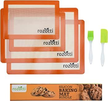 Rozotti 6-Piece Set Silicone Baking Mat