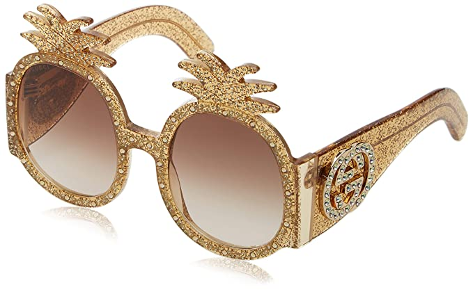 7fd73de1b6 Image Unavailable. Image not available for. Color  Gucci Womens Women s  Round 53Mm Sunglasses