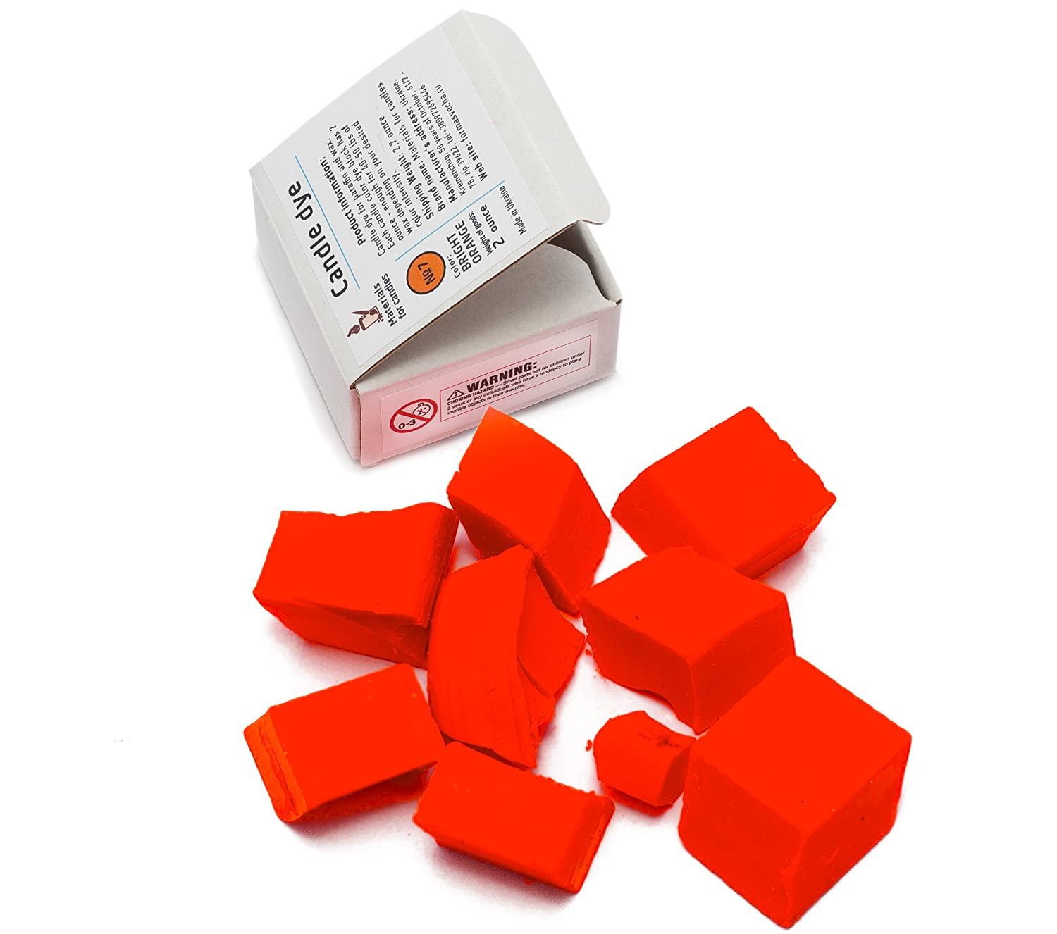 Candle Shop - Bright Orange Color Dye for 45 lb of wax - Candle dye chips  for making candles - Candle wax Dye