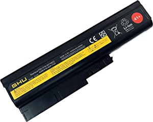 New GHU Battery 48 WH Replacement for 41+ 40Y6799 40Y6797 Compatible with Lenovo ThinkPad R60 R60e T60 T60p Z60 Z60m Z61 Z61p T500 W500 42T4619 42T4620 92P1133 40Y6795 92P1133 R500 SL300 SL400 SL500