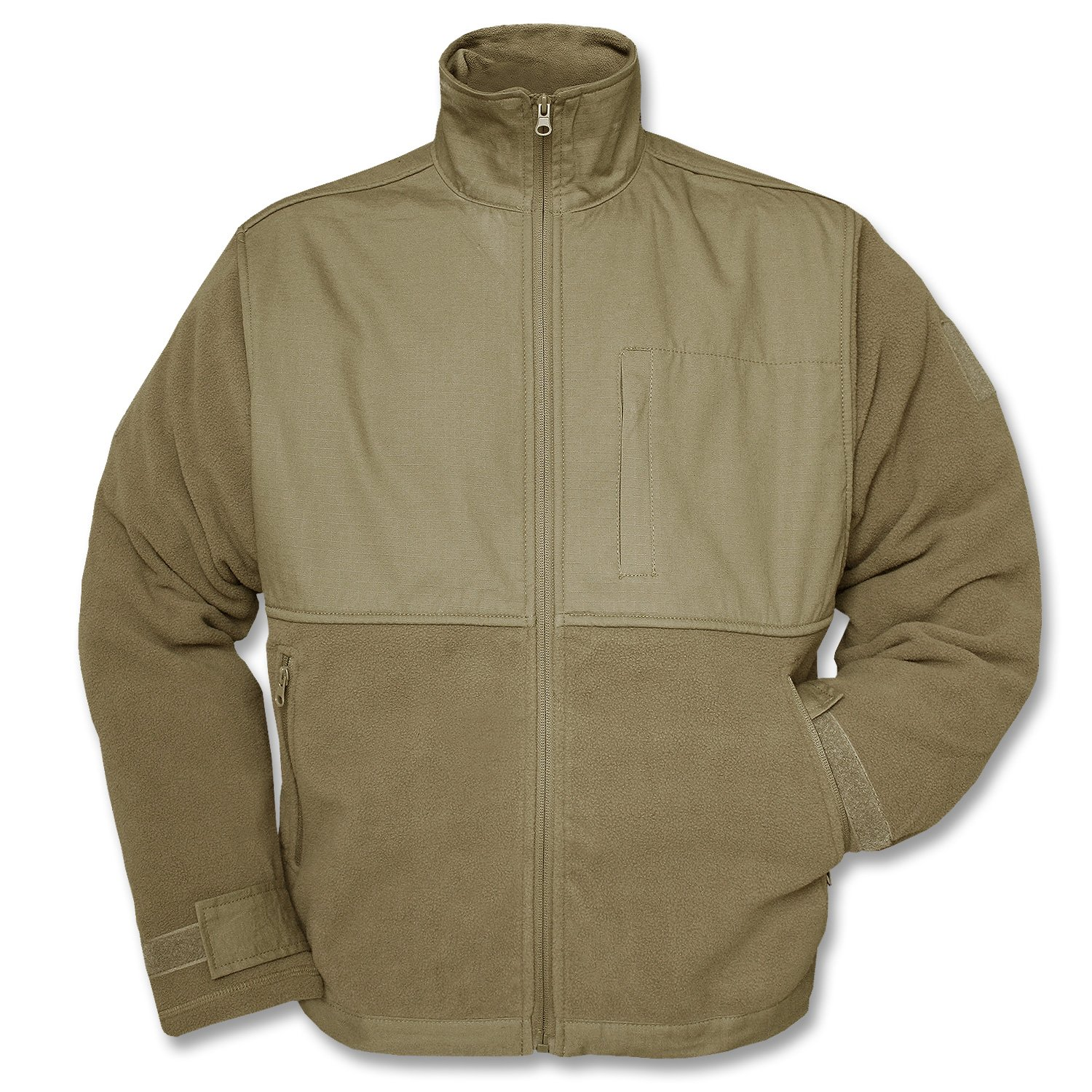 Mil-Tec Coyote Fleece Jacket with Patch - 10855005