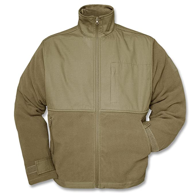 Amazon.com  Mil-Tec Coyote Fleece Jacket with Patch - 10855005  Clothing 738c2224327