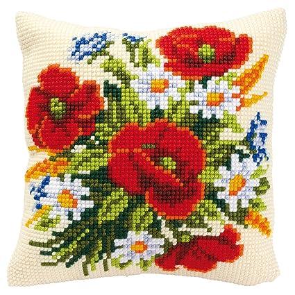 Amazon.com: Vervaco – Kit de punto de cruz, diseño de flores ...