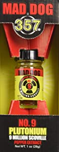 Mad Dog 357 No. 9 Plutonium 9 Million Scoville Pepper Extract, 1oz