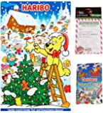 Haribo 2018 Advent Calendar Sweets 300g Hamper with Christmas Colour & Puzzle Activity Book and 25 Official Elf Report