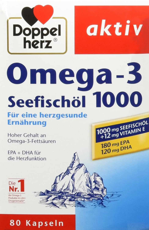 Doppelherz Seefischöl Omega-3 1000 mg – Nahrungsergänzungsmittel mit ...