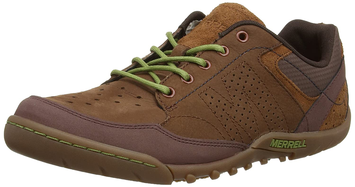 d560f4d07a Amazon.com | Merrell Sector Umber Mens Leather Sneakers/Shoes ...