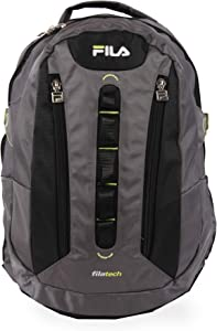 Fila Vertex Tablet and Laptop Backpack, Grey, One Size