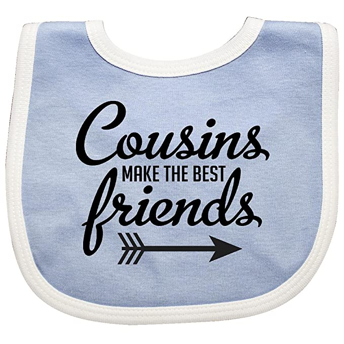 2c9c5f14a Inktastic - Cousins Make The Best Friends with Arrow Baby Bib Blue/White  2938e