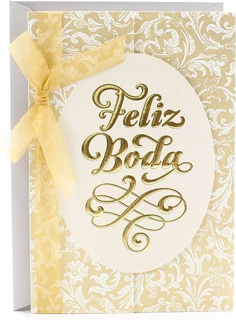 Amazon.com: Hallmark vida español boda tarjeta de ...