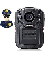 Angin-Tech Cam102 visión Nocturna infrarroja 1080P HD Cuerpo de Policía Worn cámara de vídeo Seguridad IR CAM Construido Tarjeta GPS Ayuda detección Movimiento + 32GB TF (Incluye 32 GB TF Tarjeta)