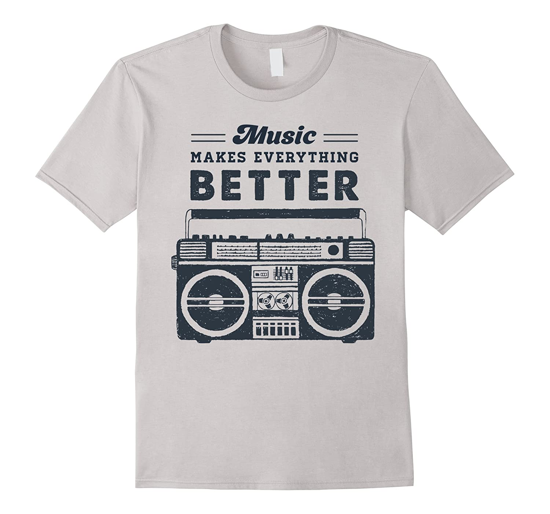 Music Everything Better School T Shirt-Xalozy