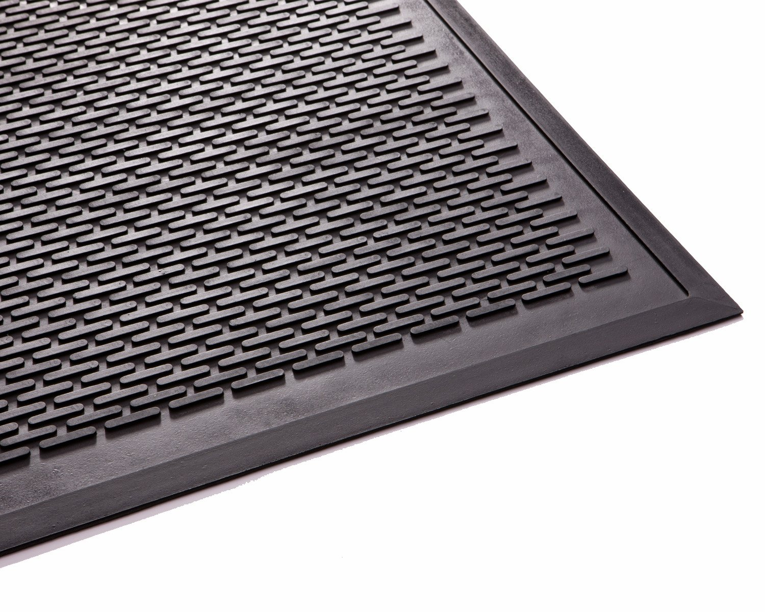 Guardian Clean Step Scraper Outdoor Floor Mat, Natural Rubber, 3'x10'', Black, Ideal for any outside entryway, Scrapes Shoes Clean of Dirt and Grime by Guardian