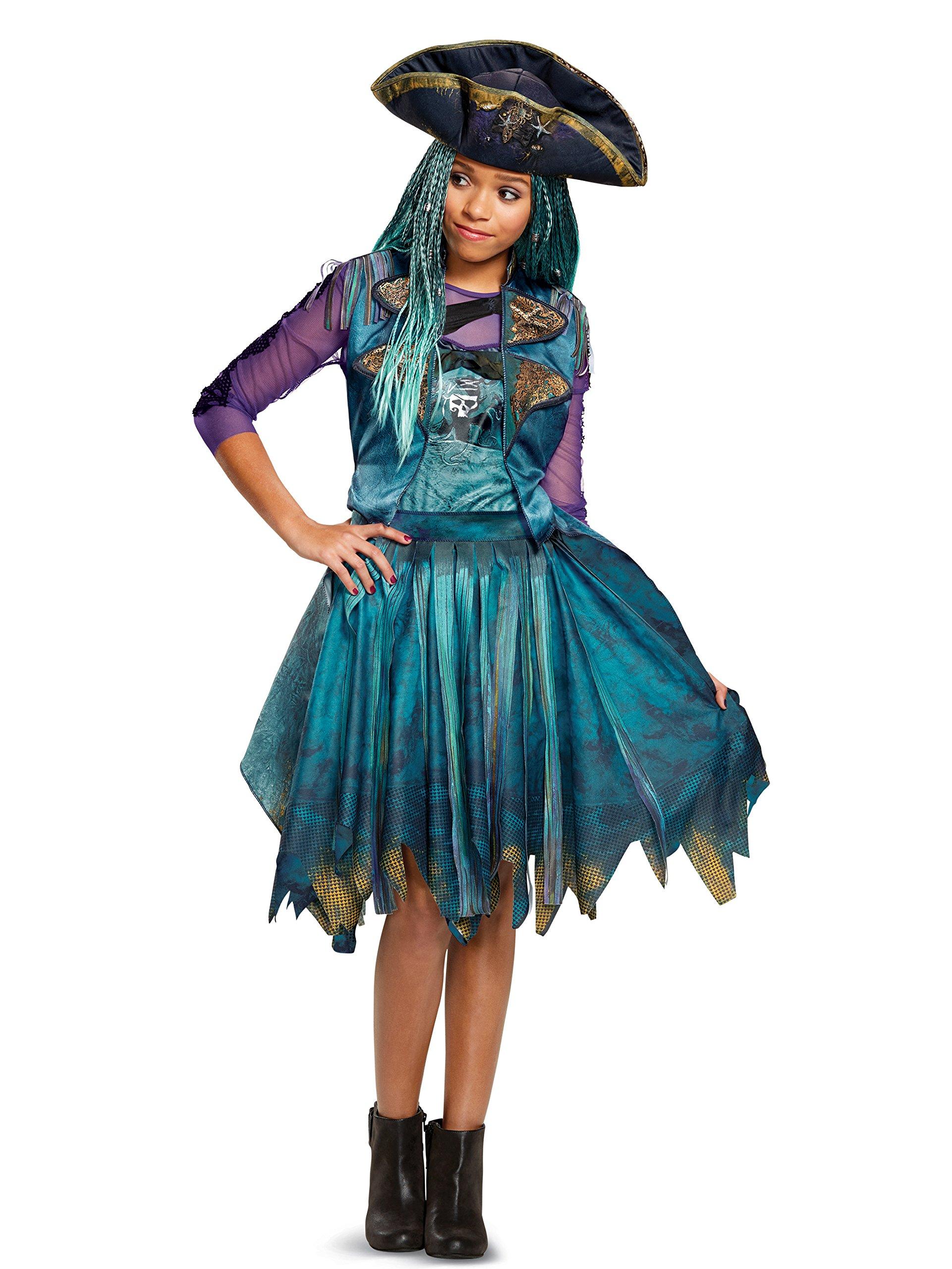 Disguise Uma Classic Descendants 2 Costume, Teal, Medium (7-8)