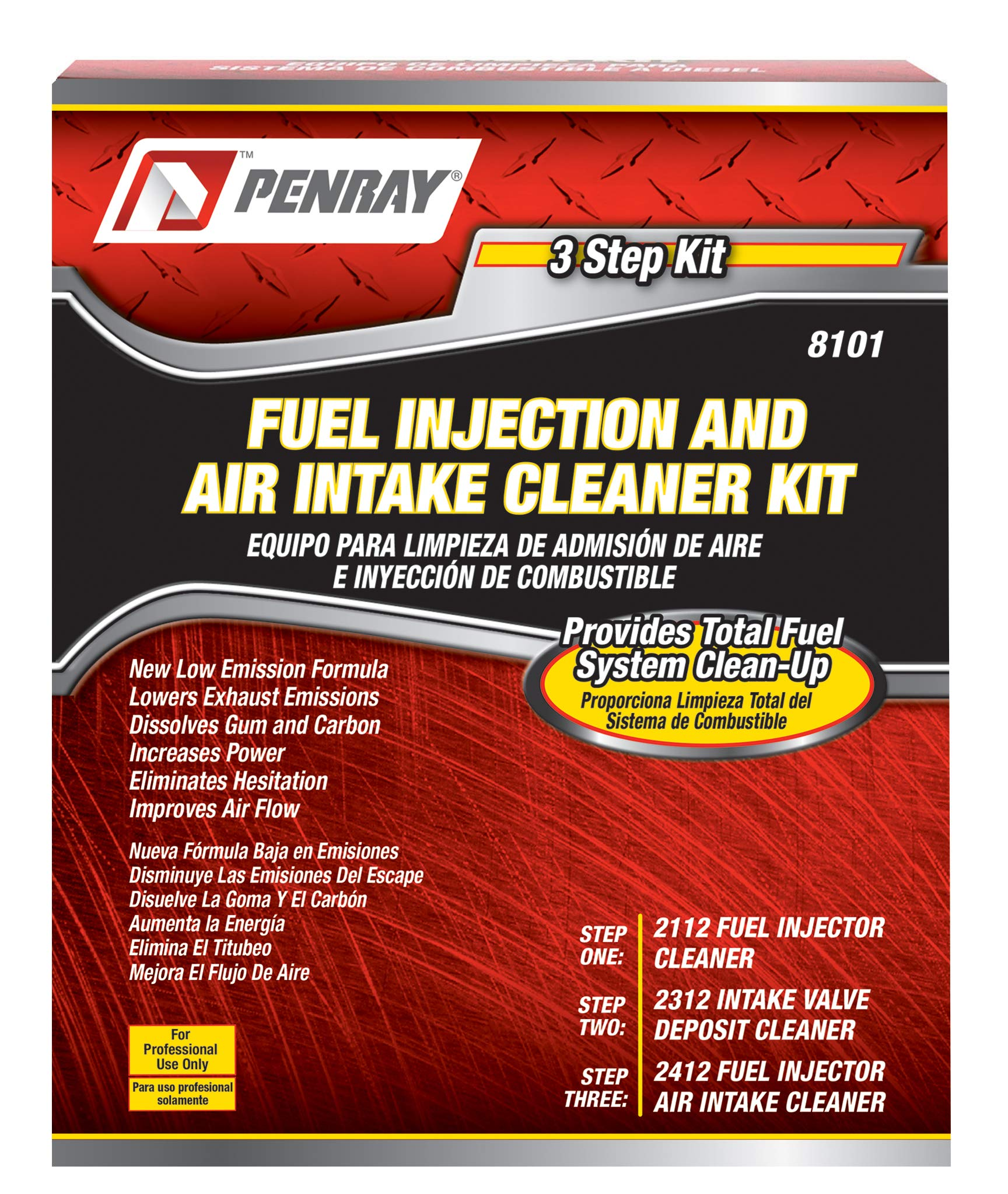 Premium Parts LLC. Penray 8101 3 Step Fuel Injection and Air Intake Cleaning Kit by Premium Parts LLC. (Image #1)
