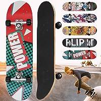 "Physionics Skateboard Completo | 31"" (78,7cm), Rodamientos ABEC"