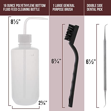 A0FF Pp Cleaning Brush Cleaner Bottle Window Airbrush Spray Brushes Home