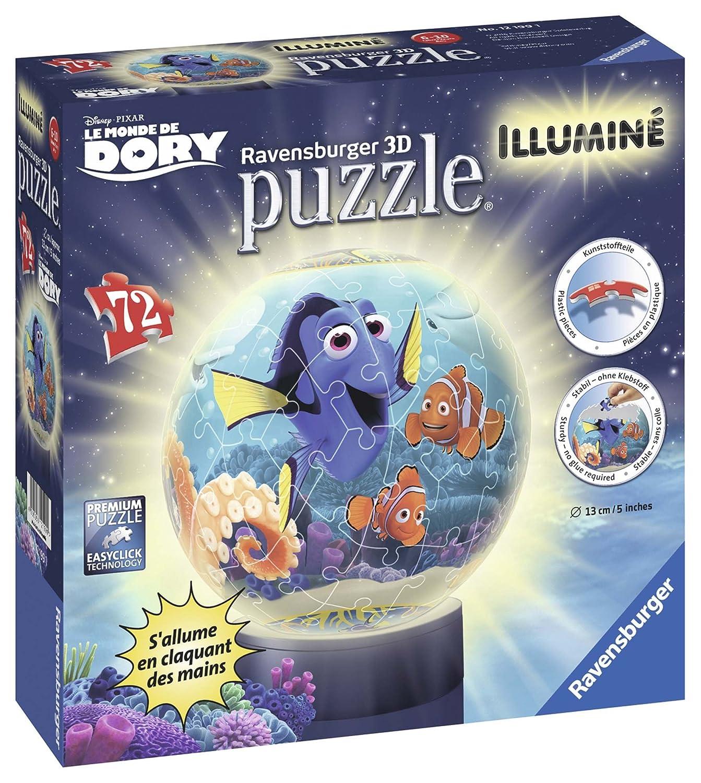 Ravensburger - 12199 - Puzzle - 3D Dory - Lumineux - 72 Pièces