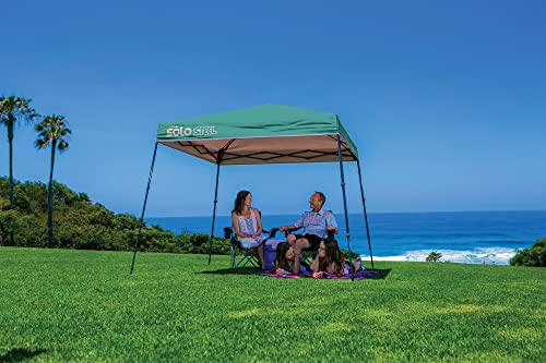 Quik Shade 9 x 9 Solo Steel 50 Square Feet of Shade Slant Leg Outdoor Pop-Up Canopy