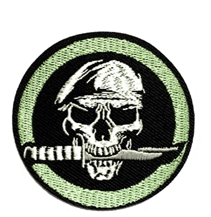 Amazon.com: Iron on Patches#31, Ninja Skull with a Knife ...