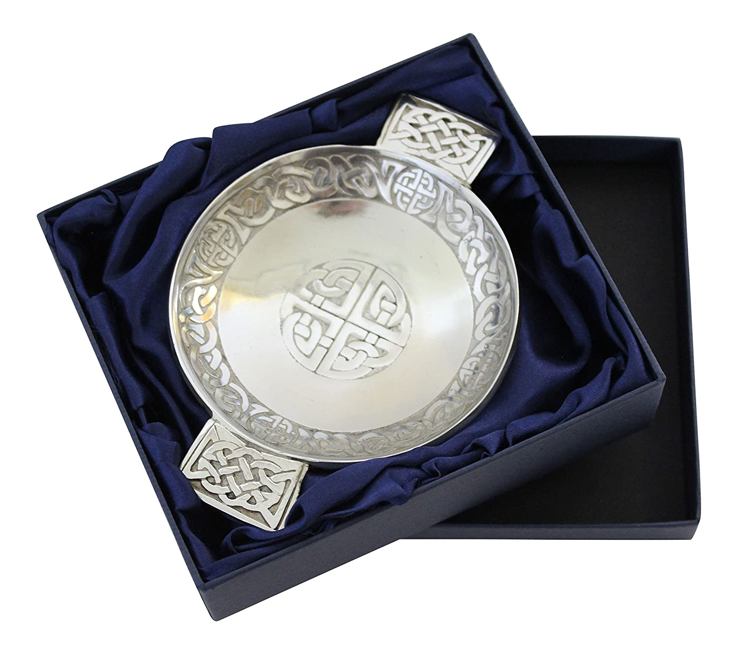 Amazon scottish pewter traditional celtic knot and eternal amazon scottish pewter traditional celtic knot and eternal life knot design toasting quaich serving bowls kristyandbryce Choice Image