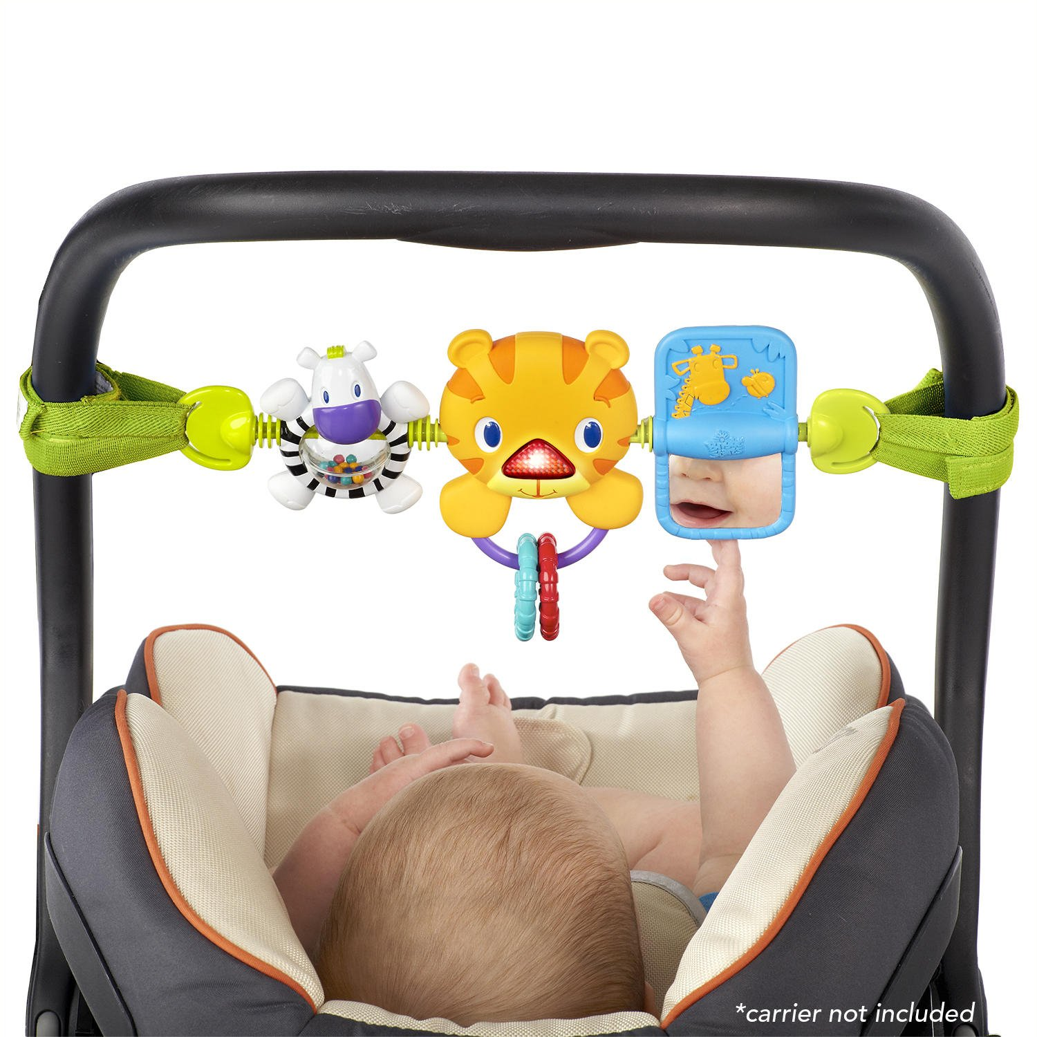Bright Starts Take Along Toy Bar for Baby Car Seats/Carriers: Bright