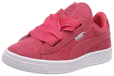 on sale fd3f5 bac49 Puma Girls' Suede Heart Valentine Ps Trainers