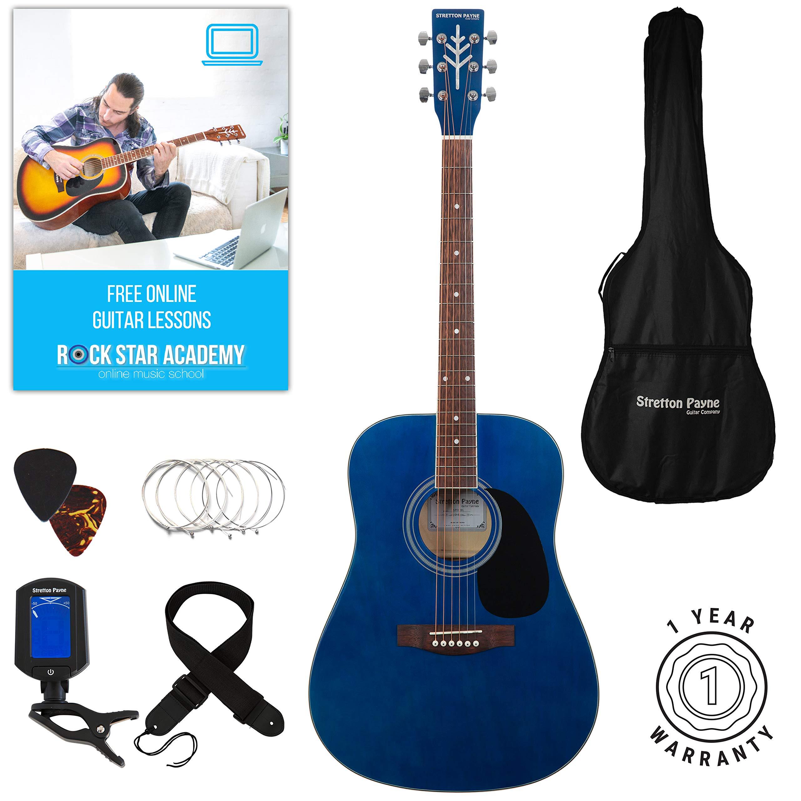 Stretton Payne Dreadnought D1 - Guitarra acústica con cuerdas de acero, tamaño grande product image
