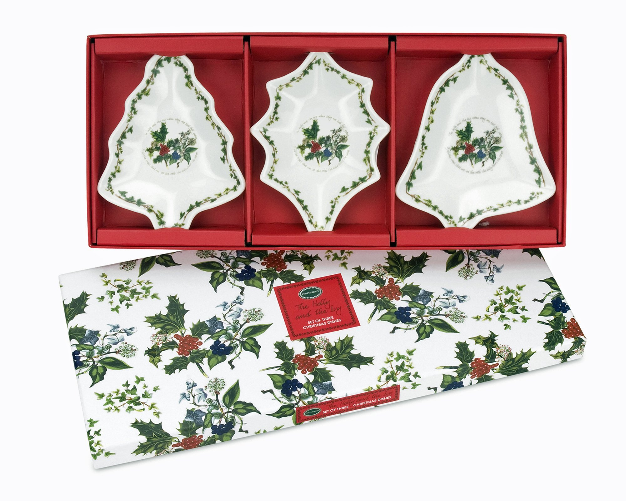 Portmeirion Holly and Ivy Dishes, Set of 3