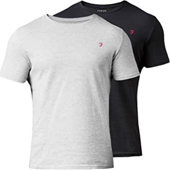 Farah Vintage Hombre Pack de 2 Camisetas de Pinehurst, Multicolor ...