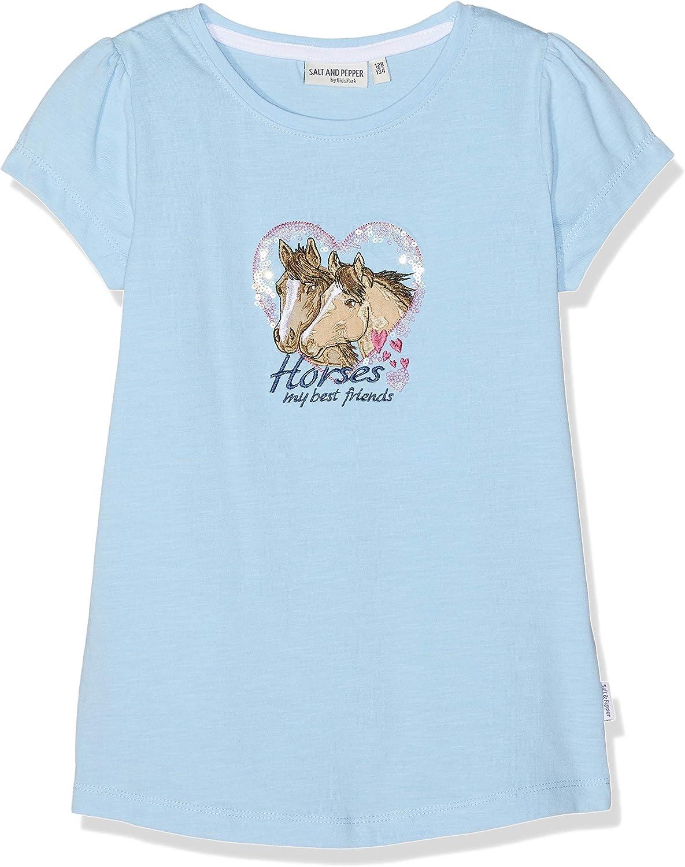 Salt /& Pepper T-Shirt Horses Uni Photo Bambina