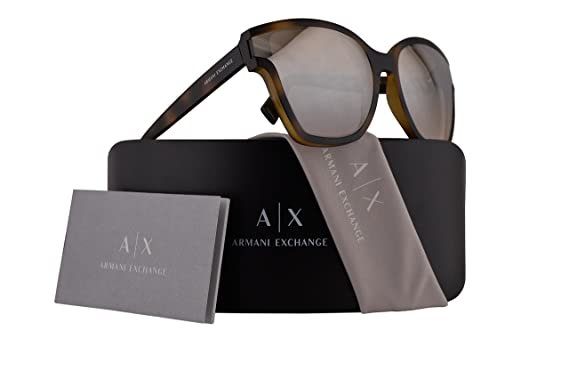 87aa36ad56c Image Unavailable. Image not available for. Color  Armani Exchange AX4073S  Sunglasses Matte Havana w Light Brown Mirror ...