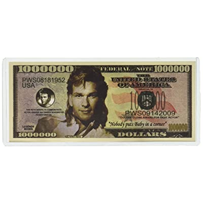 Patrick Swayze $Million Dollar$ Novelty Bill Collectible: Toys & Games