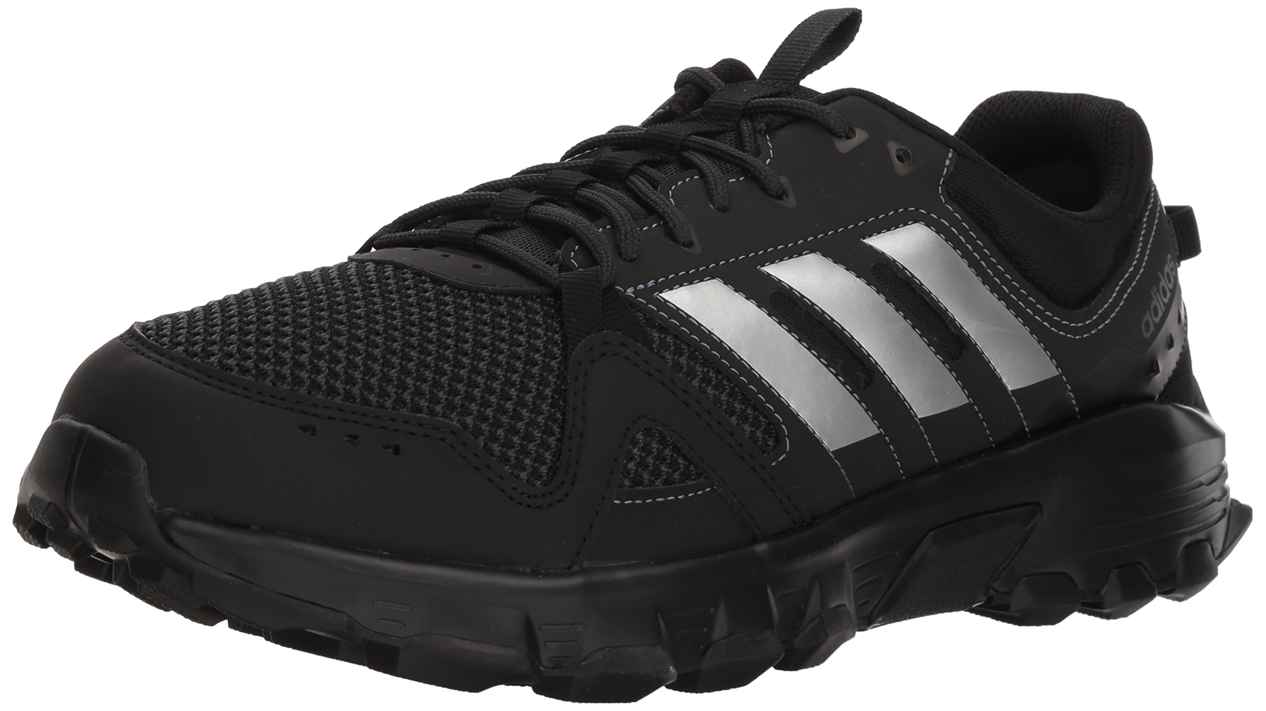 adidas Performance Men's Rockadia Trail m, Core Black/Matte Silver/Carbon, 10.5 Wide US by adidas