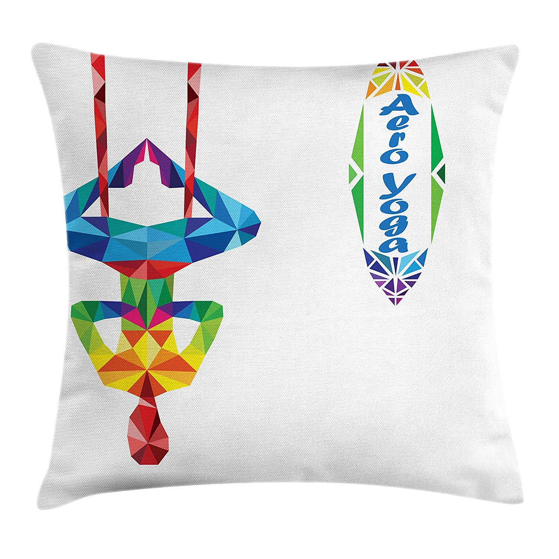Yoga Throw Pillow Cushion Cover, Aerial Aero Anti-Gravity ...