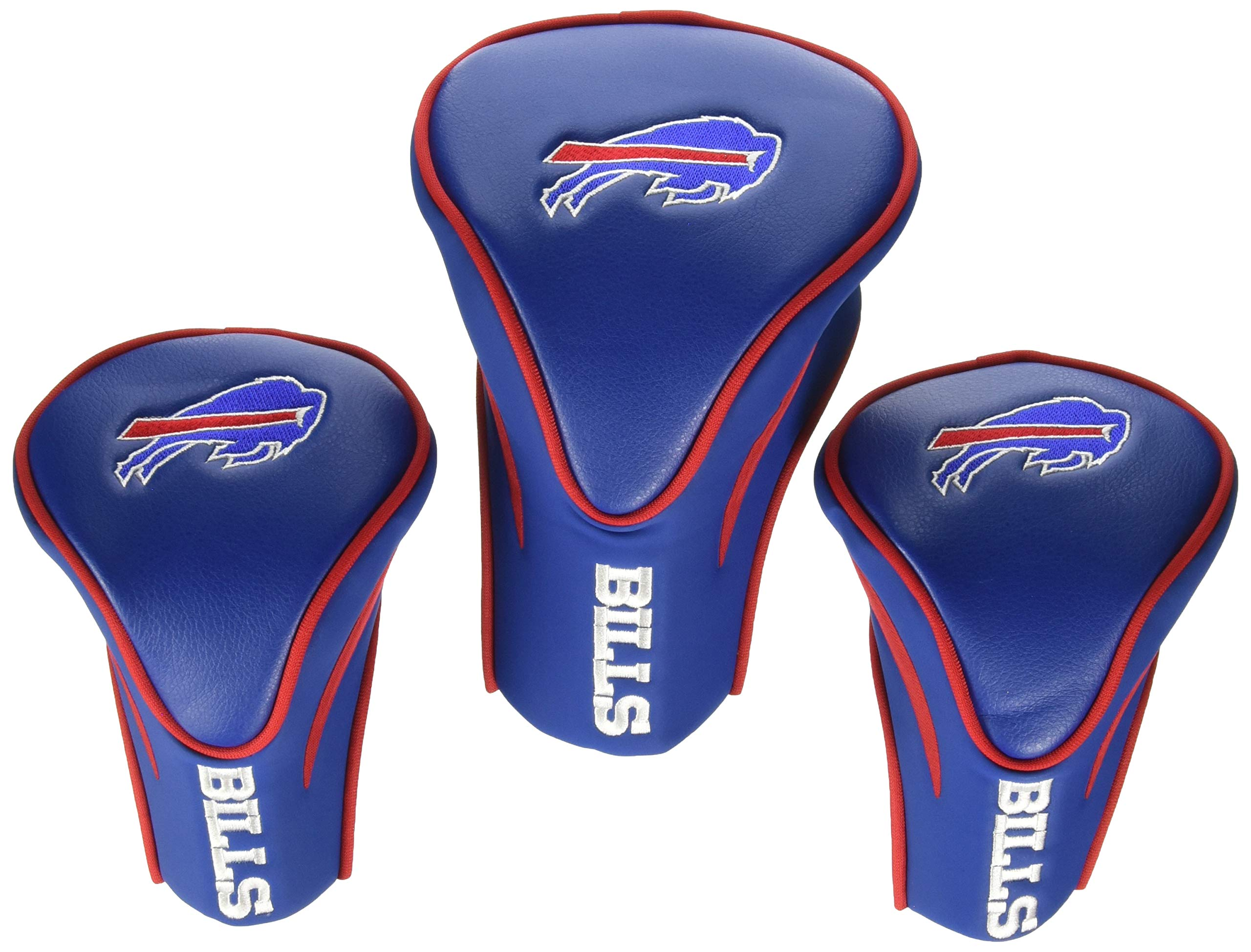 Team Golf NFL Buffalo Bills Contour Golf Club Headcovers (3 Count), Numbered 1, 3, & X, Fits Oversized Drivers, Utility, Rescue & Fairway Clubs, Velour lined for Extra Club Protection