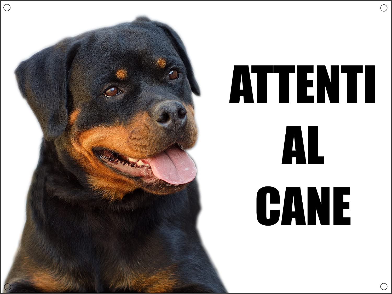 TARGA ATTENTI AL CANE ROTTWEILER