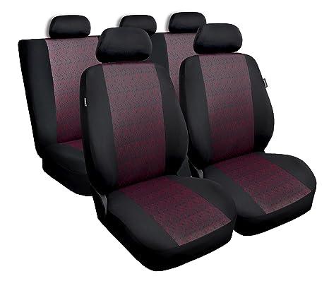 Autositzbezüge Polyester Sitzbezug Schonbezug Universal Schonbezüge Schwarz+Rot