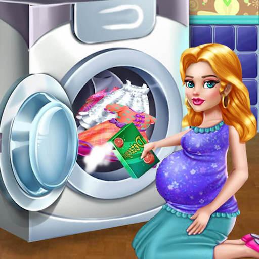 (Laundy Girls Daycare skills : Kids Washing)